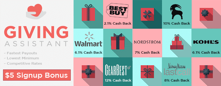 Shop with Giving Assistant and Get Cashback. Donate to Charities!