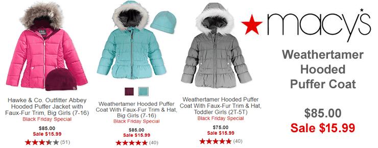 Weathertamer Hooded Puffer Coat